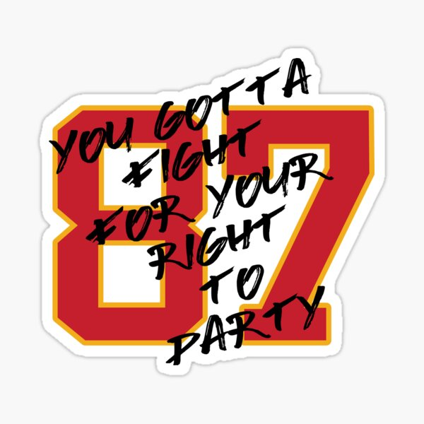Kelce Party Shirt Sticker