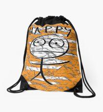 HAPPY STICKMAN Drawstring Bag