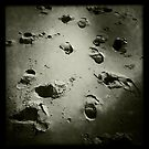 Footsteps in the sand - Burnham Beach, Norfolk, UK by Richard Flint