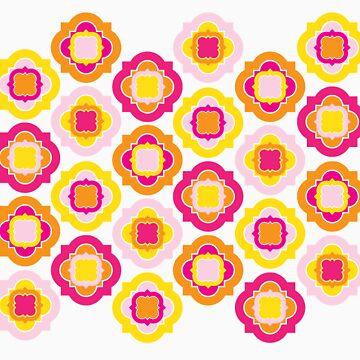 Pinky Orange Yellow Pattern by Wealie