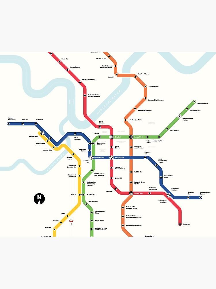 Kansas City Metro (Fantasy Subway Map, Kansas City, Missouri) by MetroPosters