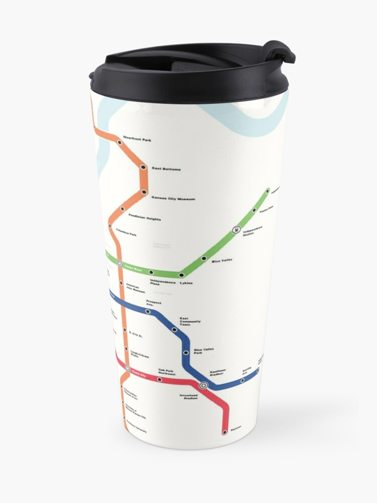 Alternate view of Kansas City Metro (Fantasy Subway Map, Kansas City, Missouri) Travel Mug