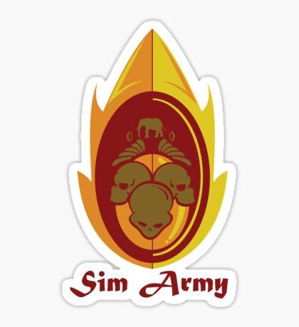 Sim Crest Sticker