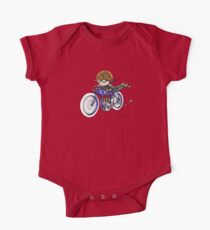 MOTORCYCLE EXCELSIOR STYLE (BLUE BIKE) One Piece - Short Sleeve