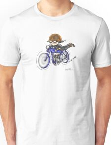 MOTORCYCLE EXCELSIOR STYLE (BLUE BIKE) Unisex T-Shirt