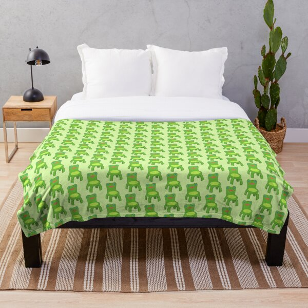 Classic Froggy Chair Outlined Throw Blanket