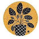 Linocut Rubber plant by cardwellandink