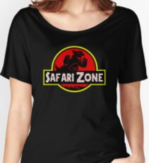Safari Zone X Jurassic Park V2 Women's Relaxed Fit T-Shirt
