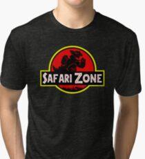 Safari Zone X Jurassic Park V2 Tri-blend T-Shirt
