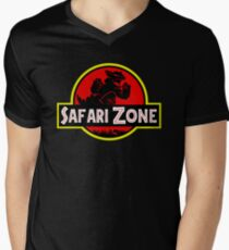 Safari Zone X Jurassic Park V2 Men's V-Neck T-Shirt