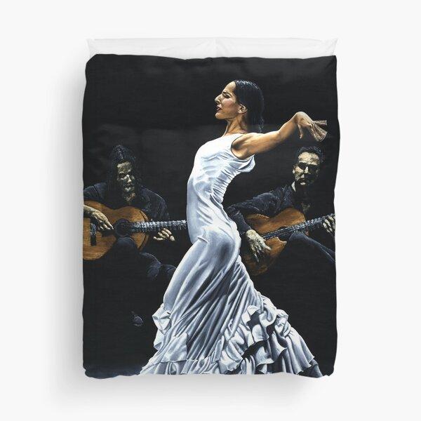 Concentracion del funcionamiento del flamenco Duvet Cover