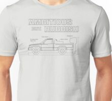 Top Gear's Ambitious but Rubbish Toybota blueprints  Unisex T-Shirt