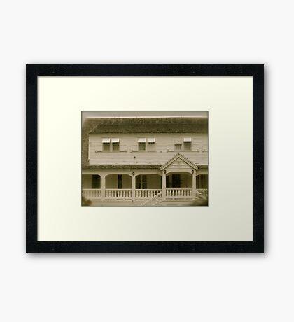 Sugar Plantation St. Kitts, Eastern Caribbean Framed Print