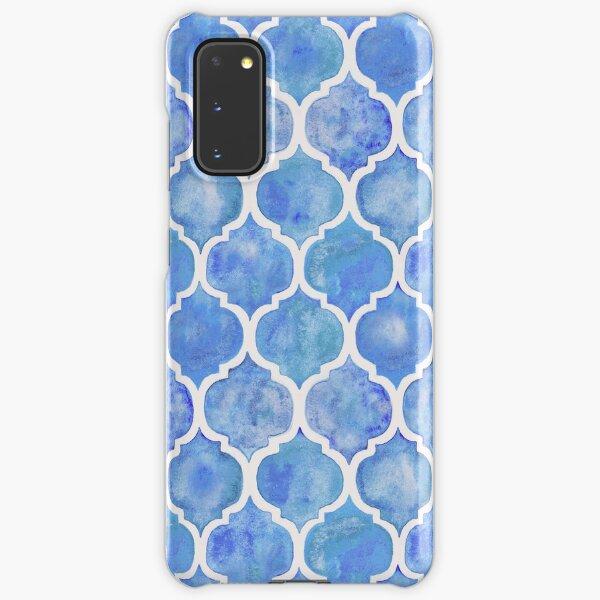Cornflower Blue Moroccan Watercolor Pattern Samsung Galaxy Snap Case