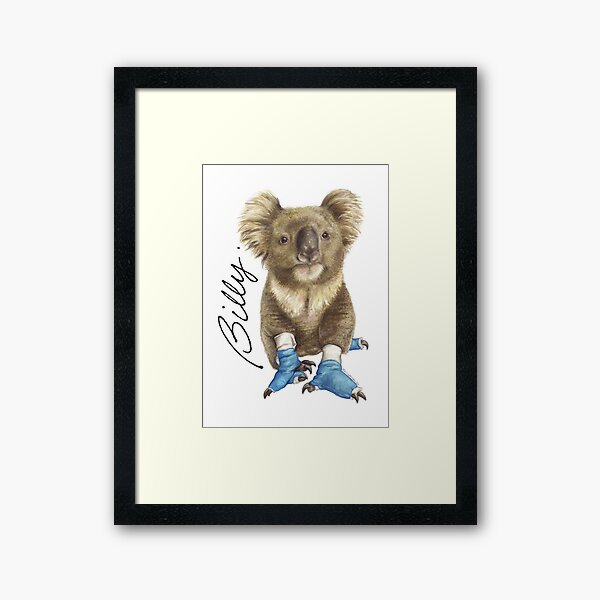Billy the koala Framed Art Print
