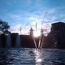 Sun Set - Cardiff City Hall by Hucksty