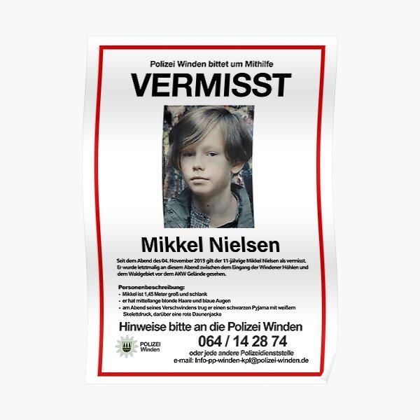 Vermisst Mikkel Nielsen Póster