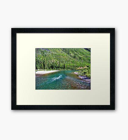 Fishing Paradise (Glacier National Park, Montana, USA) Framed Print