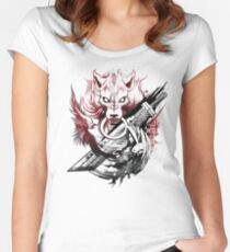 Final Fantasy Amano Homage Women's Fitted Scoop T-Shirt