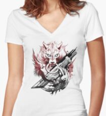Final Fantasy Amano Homage Women's Fitted V-Neck T-Shirt