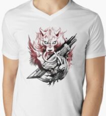 Final Fantasy Amano Homage Men's V-Neck T-Shirt