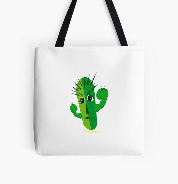 Cartoon Cactus All Over Print Tote Bag