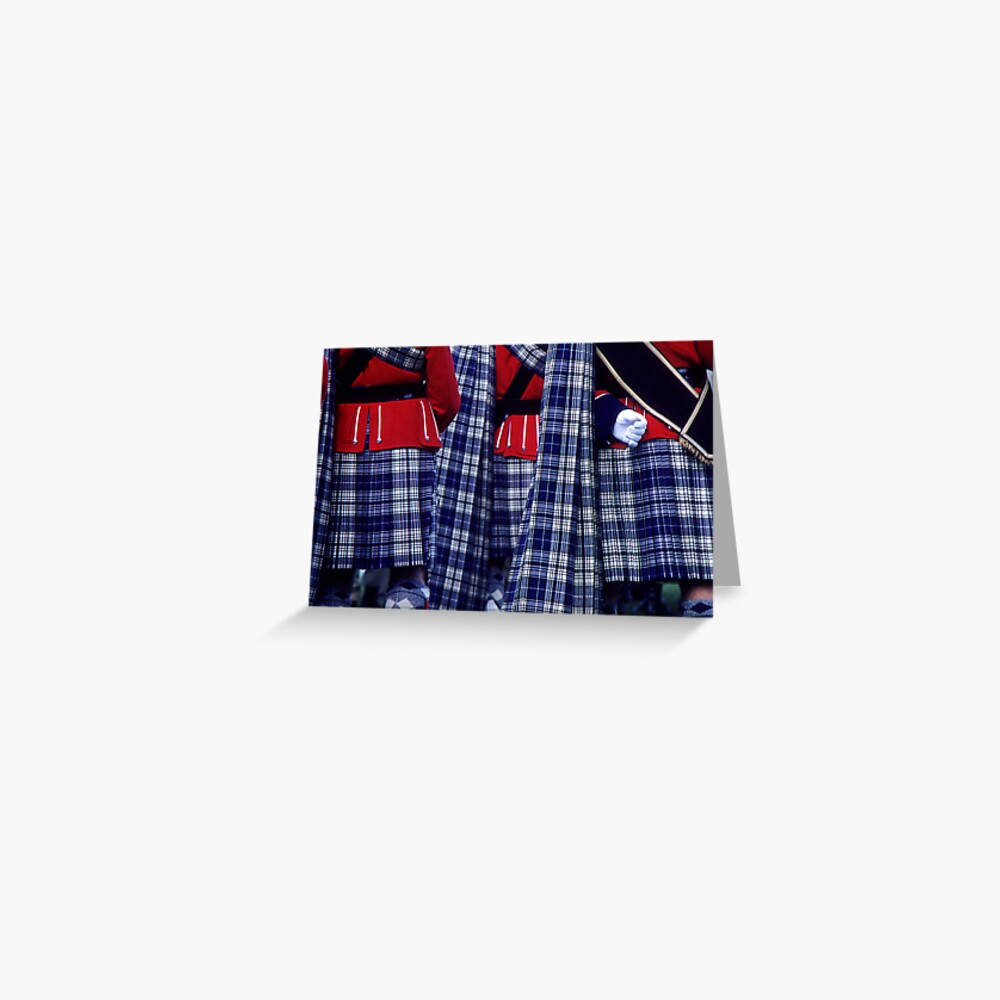 One White Glove & Tartan Kilts Greeting Card