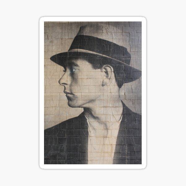 Man on a wall mural Sticker