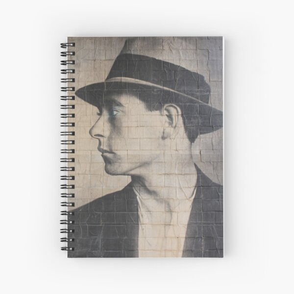 Man on a wall mural Spiral Notebook
