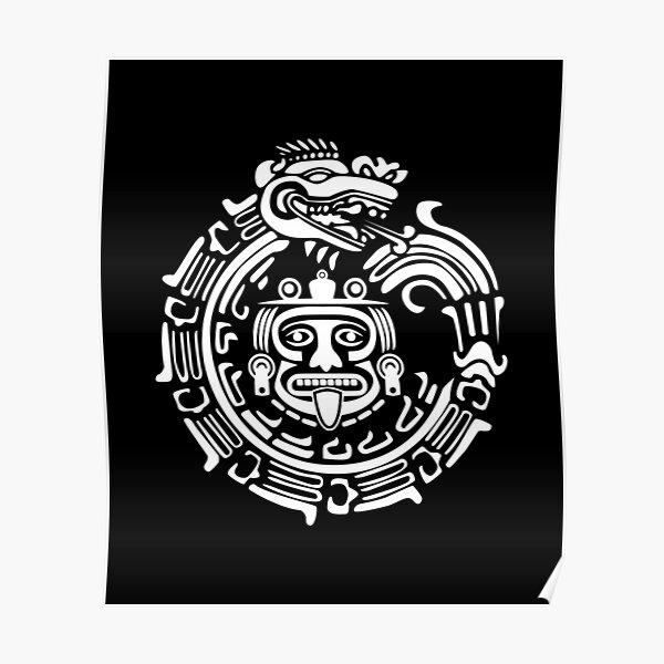 Quetzalcoatl Maya Aztec Ancient Symbol Poster