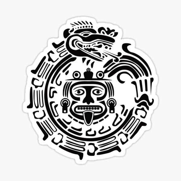 Quetzalcoatl Maya Aztec Ancient Symbol Sticker