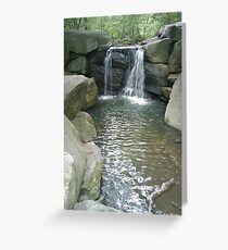 Water over Granite Greeting Card
