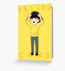 Yellow Card JIMIN Greeting Card