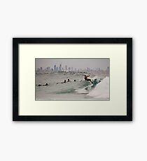 Surf City Framed Print