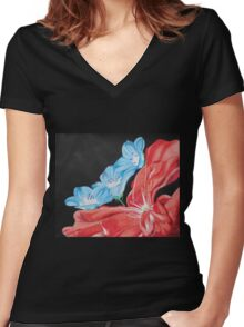 Up Close With Love Women's Fitted V-Neck T-Shirt