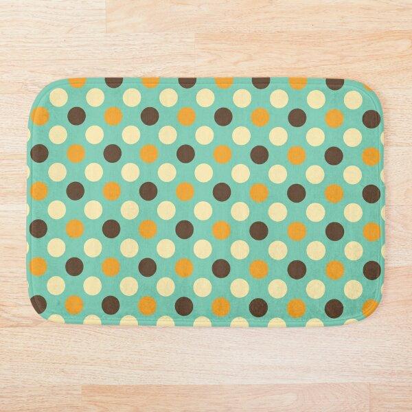 Retro 70s Green with Polka Dots Bath Mat