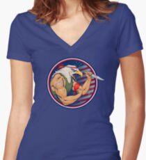 Eaglebro Women's Fitted V-Neck T-Shirt