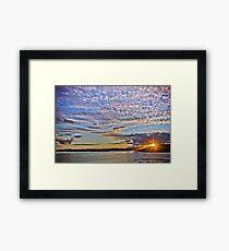 Sunset, Sound of Sleat Framed Print