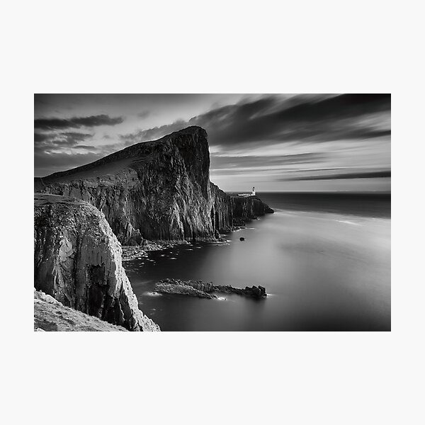 Neist Point BandW Sunset Photographic Print