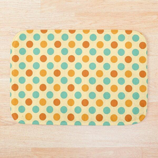 Retro 70s Colored Polka Dots Bath Mat