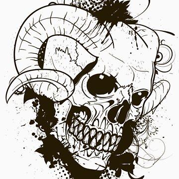 Horned Skull by KimberlyMarie