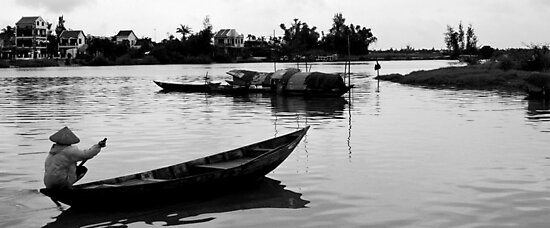 Paddling Home - Hoi An by Jordan Miscamble