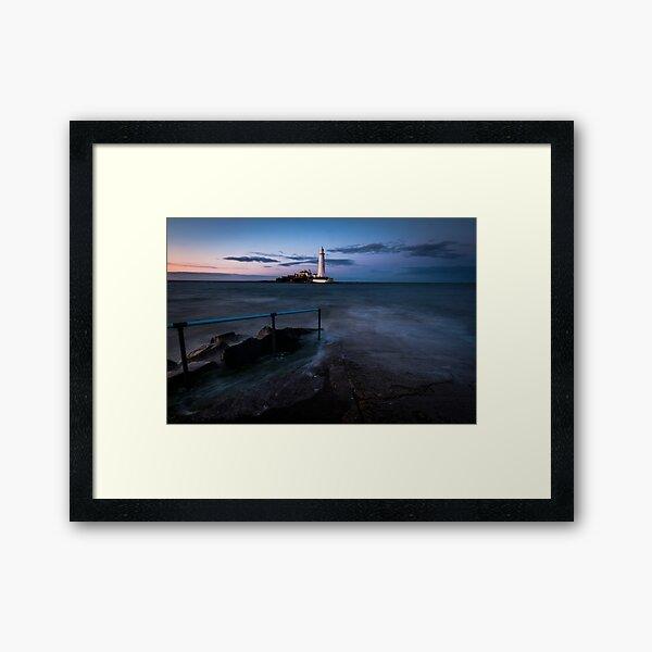 High Tide, St Marys Lighthouse, Whitley Bay Framed Art Print