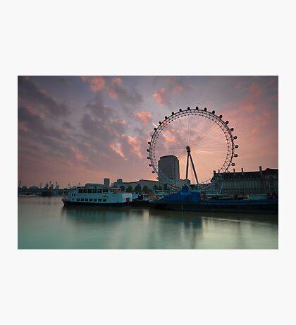 London Eye Sunrise Photographic Print