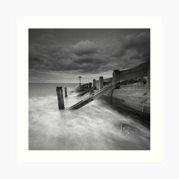 Seaton Sluice Harbour Groyne Art Print