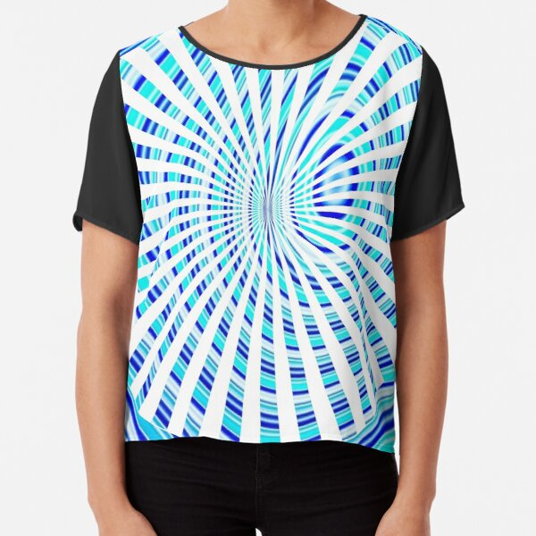 #Design, #abstract, #pattern, #illustration, psychedelic, vortex, modern, art, decoration Chiffon Top