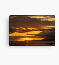 Sunset, Point of Sleat, Isle of Skye, Inner Hebrides, Scotland, Canvas Print