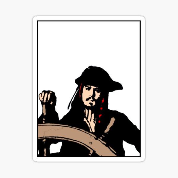 Captain Jack Sticker