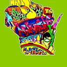 Wisconsin State, includes colorful Wisconsin State icons by thespiltink