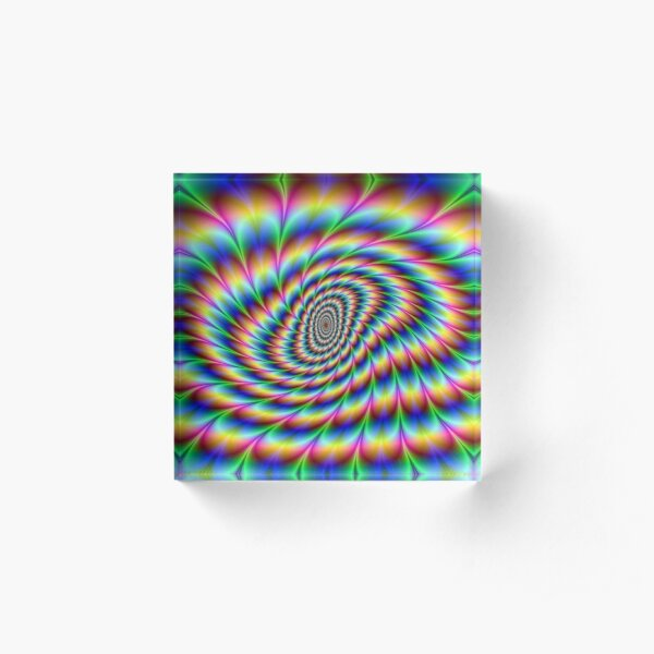 Op art - art movement, short for optical art, is a style of visual art that uses optical illusions Acrylic Block